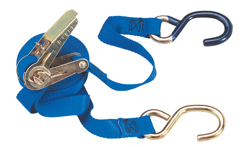 1 Ratchet Tie-Down with S-Hooks