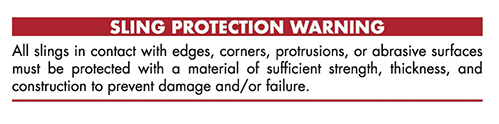 Sling Protection Warning